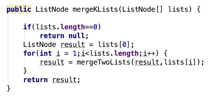LeetCode problem 23 Merge k Sorted Lists [Divide and conquer][Min